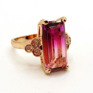 Pinkish purple costume jewelry ring